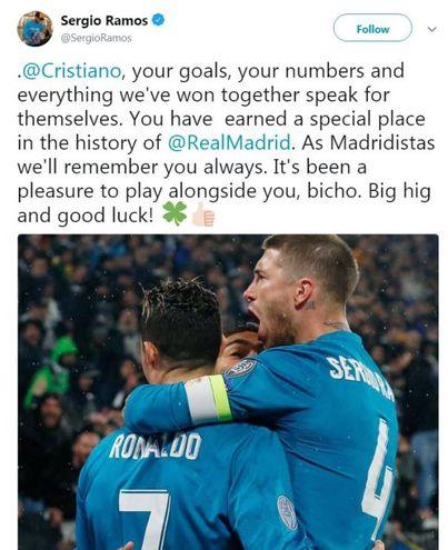 Il saluto di Sergio Ramos