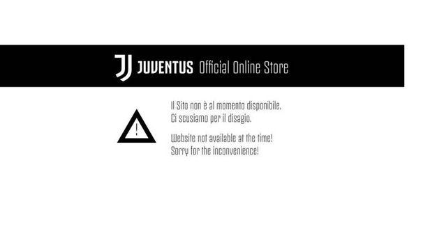 Lo store della Juve in tilt