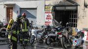L'incendio in via Faggi (Fotoprint)
