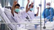 I ragazzini della grotta in ospedale (Ansa)