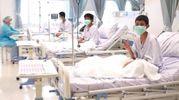 I bimbi in ospedale (Ansa)