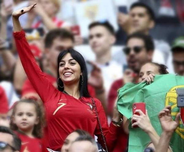 In tribuna durante i Mondiali di Russia (Instagram)
