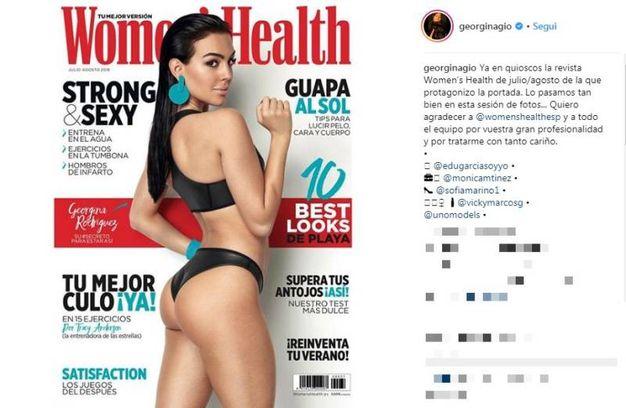 Sulla copertina di Women's Health Spagna (Instagram)