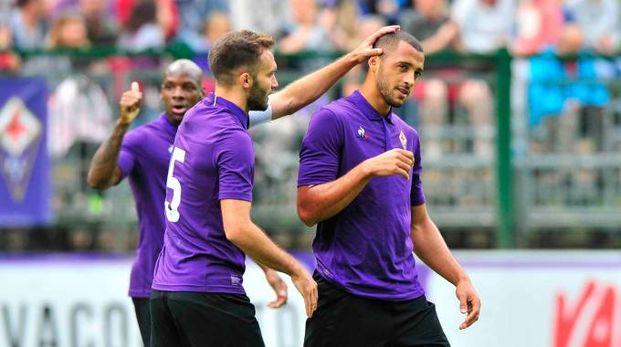 Fiorentina, prima amichevole a Moena (fotocronache Germogli)