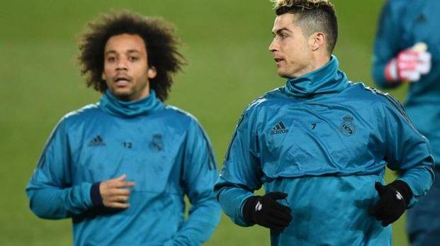 Marcelo e Cristiano Ronaldo