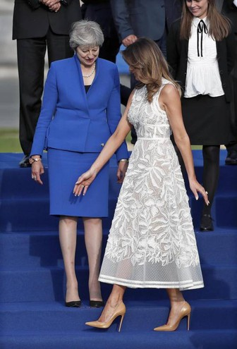 Melania Trump e Theresa May (Ansa)