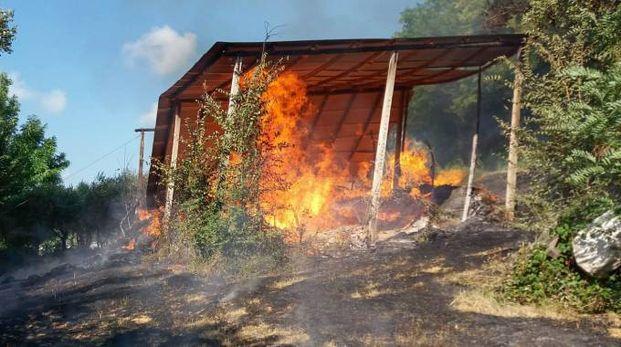 L'incendio a Francavilla