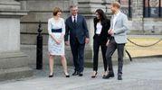 Harry e Meghan al Trinity College di Dublino (Ansa)