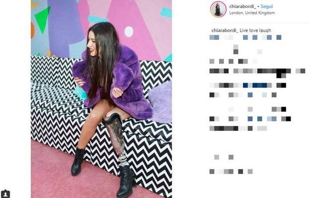 Chiara Bordi su Instagram