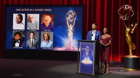 L'annuncio delle nomination – Foto: AFP PHOTO/Robyn Beck/LaPresse