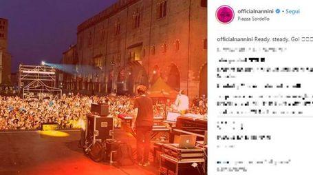 Gianna Nannini a Mantova (Instagram)