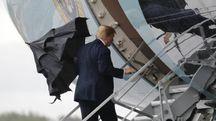 Donald Trump lascia Glasgow per Helsinki, dove si tiene il summit con Putin (Ansa)