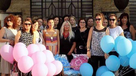 Il flash mob per il punto nascite ad Adria (foto Braghin)
