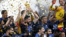 L'esultanza della Francia dopo la vittoria (Ansa)