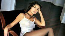 Marina La Rosa, la 'gattamorta' del GF1, posa per il calendario di Max (Ansa)