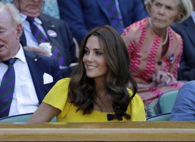Kate Middleton alla finale maschile di Wimbledon 2018 (Ansa)