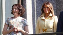 Melania e Donald Trump tra il premier finlandese e la consorte (Ansa)