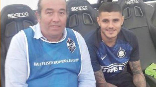 Vincenzo Volpi con Maurito Icardi