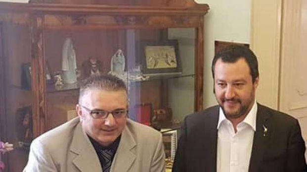 Salvini assieme a Gianluca Giaccio
