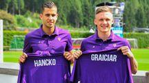 Fiorentina, la presentazione di Hancko e Graiciar (Fotocronache Germogli)