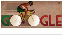104° anniversario della nascita di Gino Bartali, il doodle di Google