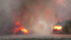 Il tornado di fuoco sul fiume Colorado - foto Chris mackie youtube
