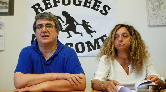 Don Biancalani e l'avvocato Elena Baldi