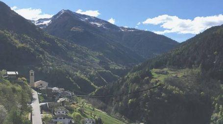 Un abbozzo del ponte - Foto: Ufficio stampa Consorzio Turistico Valtellina di Morbegno