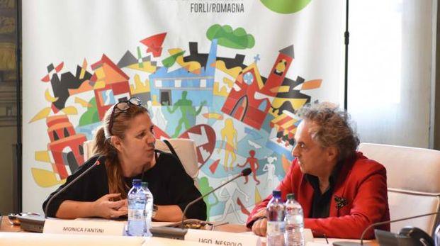 Ugo Nespolo e Monica Fantini