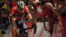Tour de France 2018, Vincenzo Nibali dopo la caduta (LaPresse)