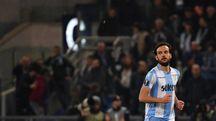 Marco Parolo con la maglia della Lazio