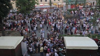 Un momento della festa in piazza Dalmazia (Umberto Visintini / New Press Photo)