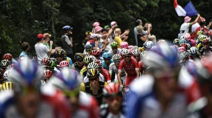 Tour de France 2018, un'immagine del gruppo