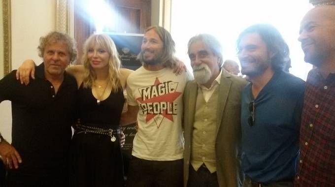 Courtney Love e Peppe Vessicchio a Firenze