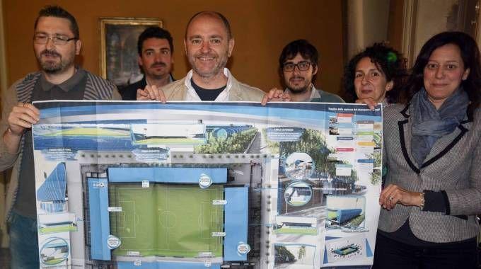La presentazione del progetto per la riqualificazione dello stadio 'Paolo Mazza'