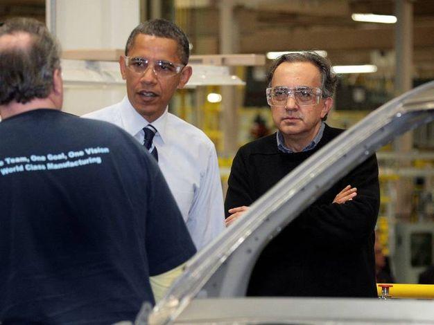 Con Obama il 30 giugno 2010 (Ansa)