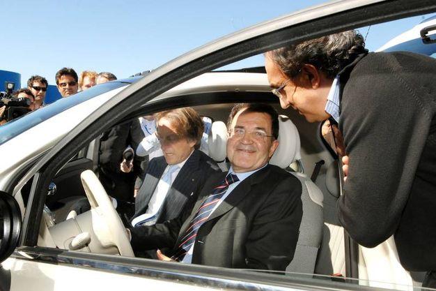 Con Romano Prodi (Ansa)