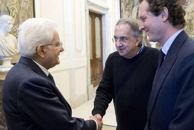 Con il presidente Mattarella nel 2016 (Ansa)