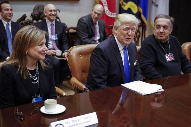 Con Trump alla Casa Bianca nel 2017 (Ansa)
