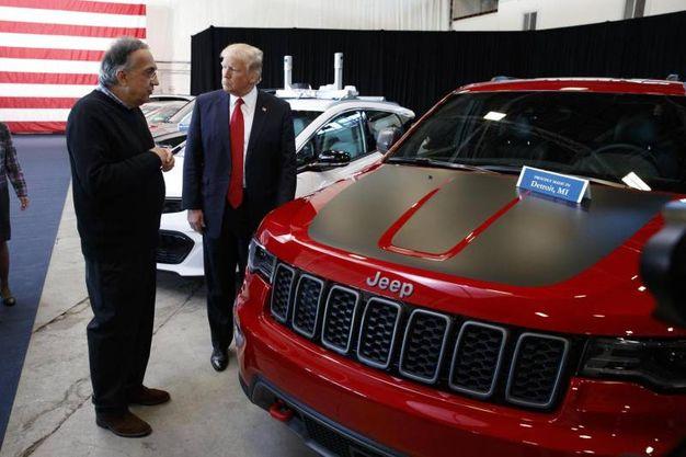 Con Trump nel 2017 (Ansa)
