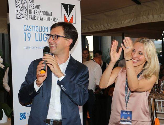DARIO NARDELLA E LUCIA ALEOTTI AL PREMIO FAIR PLAY MENARINI