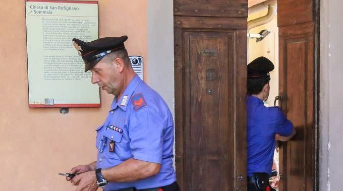I carabinieri a Calenzano (foto Germogli)