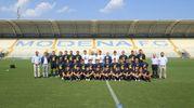 La squadra allestita per partecipare alla D, allo stadio Braglia (foto Fiocchi)