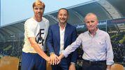 L'allenatore, il presidente e il ds (foto Fiocchi)