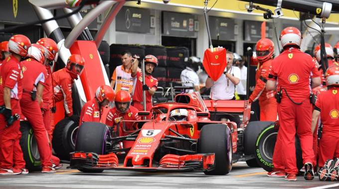 Ferrari, Sebastian Vettel (Ansa)