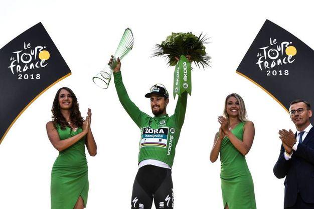 Peter Sagan ha vinto la classifica a punti, maglia verde (Lapresse)