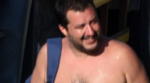 Il ministro Salvini alla darsena (Migliorini)