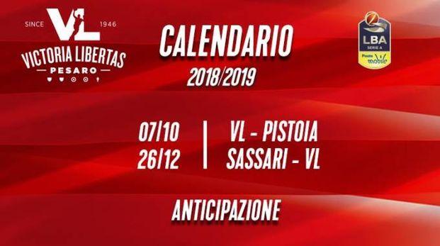 Anteprima calendario stagione 2018/19