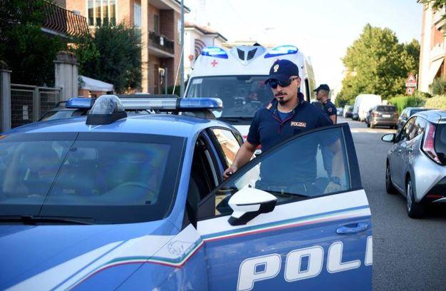 La polizia è intervenuta dopo l'aggressione (foto Businesspress)