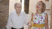 Il nonno e la mamma del campione (Pianetafoto)